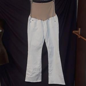 Gap Maternity Denim Stretch Top Blue Jeans White